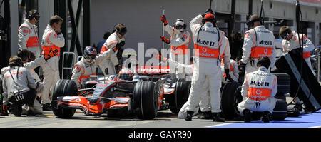 Formula One Motor Racing - British Grand Prix - Qualifying Day - Silverstone - Stock Photo