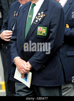 Funeral of Corporal Sean Reeve - Stock Photo