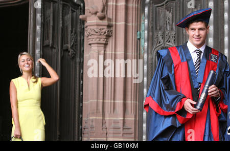 Gerrard receives university honorary fellowship - Stock Photo