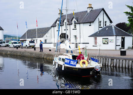 Corpach Sea Loch offices at the Start of the Caledonian Canal, Corpach, Fort William, Scotland,UK. - Stock Photo