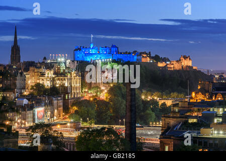 Edinburgh lies at the heart of the Edinburgh & South East Scotland City region . - Stock Photo
