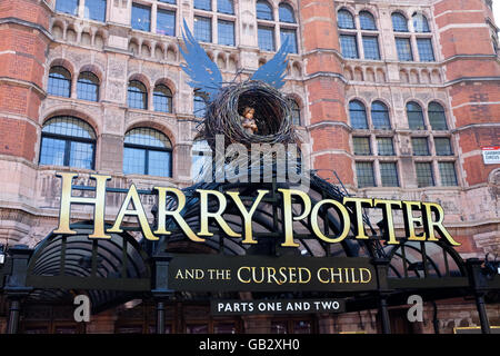 Harry Potter and the Cursed Child showing at the Palace Theatre in central London in 2016. - Stock Photo