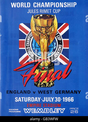 Soccer - World Cup Final 1966 - England v West Germany - Programme - Stock Photo