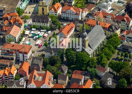Aerial view, Gothic church provost church St. Walburga, Werl, Werl-Unnaer Borde, North Rhine-westphalia, Germany, - Stock Photo