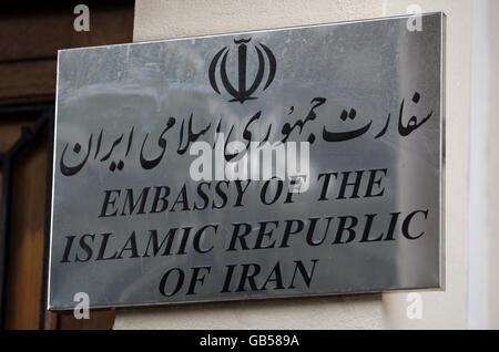 Iranian embassy bomb attack - Stock Photo