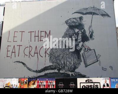 New Banksy work in New York - Stock Photo