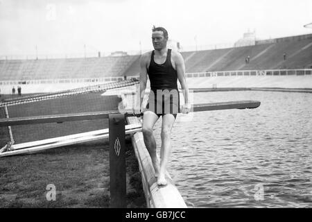 Diving - London Olympic Games 1908 - White City Stadium - Stock Photo
