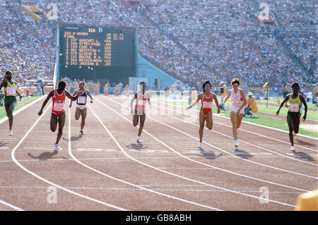 Athletics - Los Angeles Olympic Games 1984 - Women's 400m Final - Stock Photo