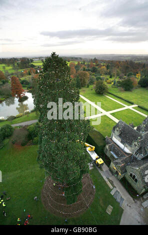 Aerial View Of Wakehurst Place Sussex Stock Photo