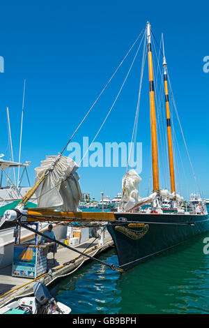 Florida, Key West, charter sailboat, sailing yacht Schooner America 2.0 - Stock Photo