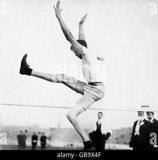 Athletics - London Olympic Games 1908 - Men's Standing High Jump - Stock Photo