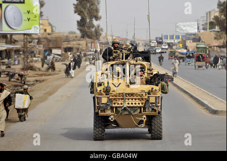 Military Operations in Afghanistan - British Army - The Queens Dragoon Guards - Lashkar Gar - 2008 - Stock Photo