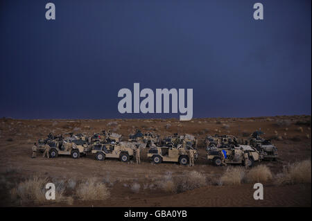 Welsh Cavalry in Afghanistan - Stock Photo