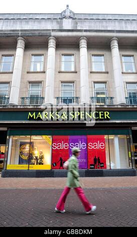M&S announce job losses - Stock Photo