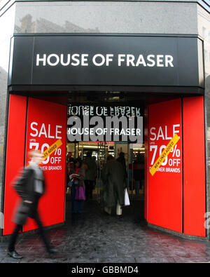 House of Fraser hails solid festive performance - Stock Photo