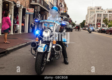 New orleans police motorcycle stock photo 110295864 alamy for Department of motor vehicles in new orleans