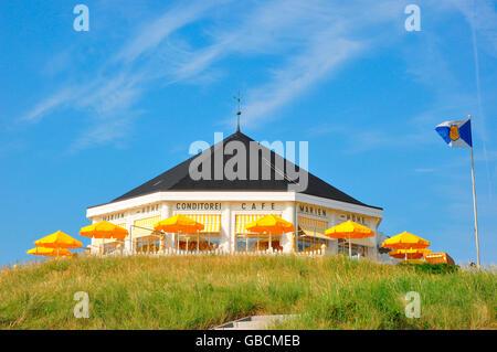 Pavillon, Vegetation, Nordsee, UNESCO-Welterbe, Norderney, Strandcafe, Marienhoehe, Niedersachsen, Deutschland / - Stock Photo