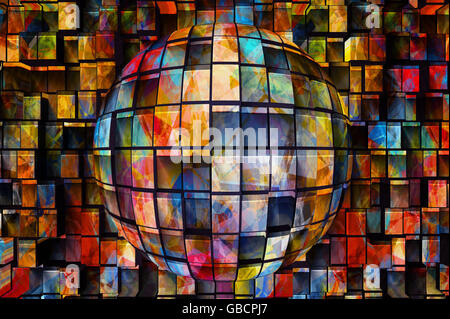 abstract colourful background, digitally generated - Stock Photo
