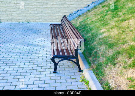 bench in the summer Park - Stock Photo