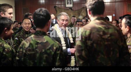 Prince of Wales visits Barracks in Folkestone - Stock Photo