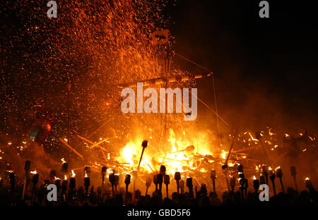 Up Helly Aa Festival - Stock Photo