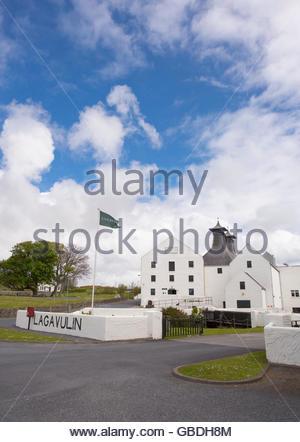 The Lagavulin Distillery on the Isle of Islay, Inner Hebrides, Scotland. - Stock Photo