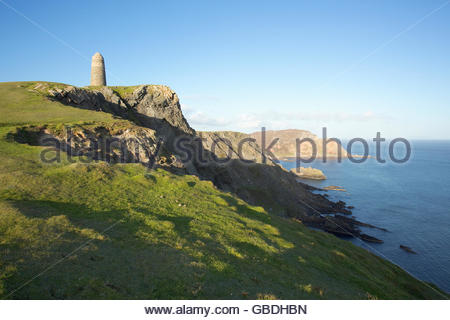 The American Monument at the Mull of Oa on the Isle of Islay, Inner Hebrides, Scotland. - Stock Photo