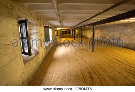 The Malting Room at the Highland Park Distillery, Kirkwall, Mainland, Orkney, Scotland. - Stock Photo
