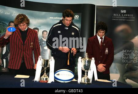 Rugby Union - Bell Lawrie Scottish Schools Cup Semi Final Draw - Murrayfield - Stock Photo