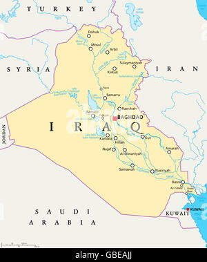 811d4f6638 Iraq political map with capital Baghdad