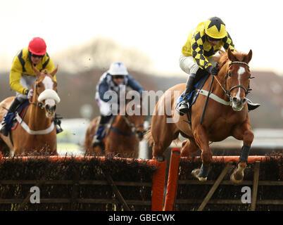 Horse Racing - Warwick Racecourse - Stock Photo