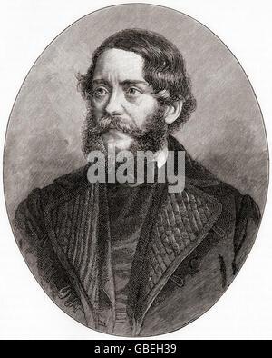 Lajos Kossuth de Udvard et Kossuthfalva, aka Louis Kossuth, 1802 – 1894.  Hungarian lawyer, journalist, politician - Stock Photo