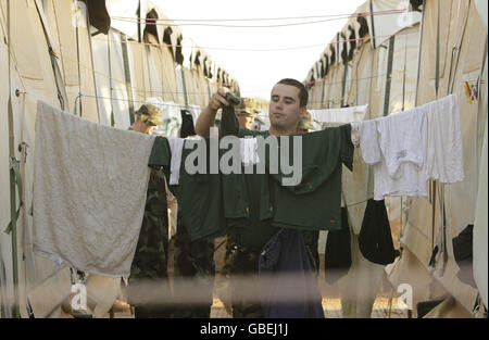 Irish Defence forces in Chad - Stock Photo