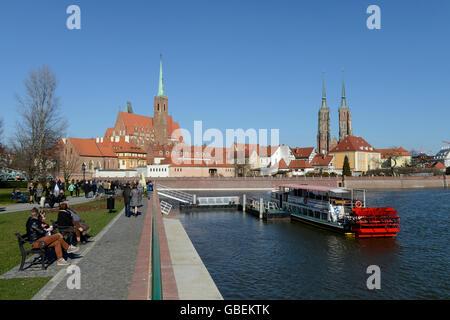 Dominsel, Breslau, Niederschlesien, Polen - Stock Photo