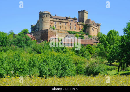 Chateau de Castelnau-Bretenoux, museum, Prudhomat, Department Lot, Midi-Pyrenees, France - Stock Photo