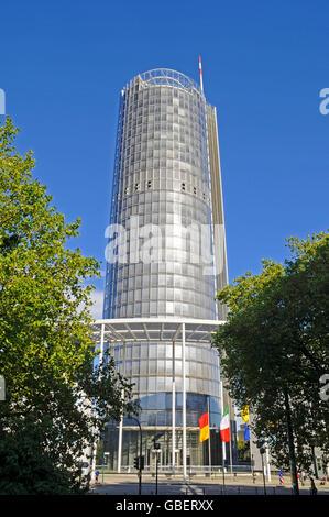 RWE Tower, Essen, Ruhr area, North Rhine-Westphalia, Germany - Stock Photo