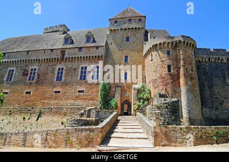 Chateau de Castelnau-Bretenoux, Museum, Prudhomat, Departement Lot, Midi-Pyrenees, France - Stock Photo
