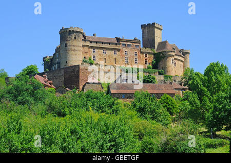 Chateau de Castelnau-Bretenoux, Museum, Prudhomat, Departement Lot, Midi-Pyrenees, France - Stock Photo