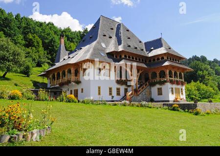 Barsana, monastery, Maramures, Romania - Stock Photo