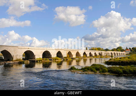 Loire river, Beaugency, Orleans, Departement Loiret, Centre, France - Stock Photo
