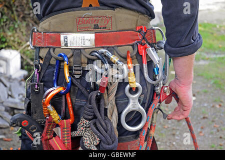 Arborist, equipment, tools, Germany / wood cutter, tree climber, tree care services - Stock Photo