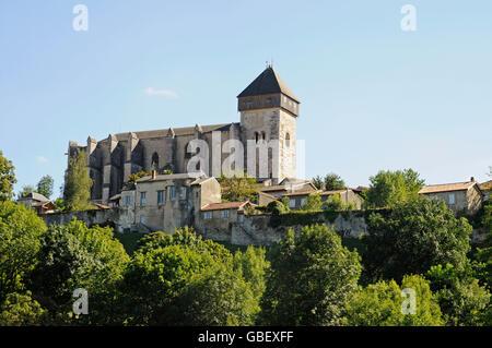 Notre Dame, cathedral, Saint Bertrand de Comminges, Midi Pyrenees, Department Haute-Garonne, France - Stock Photo