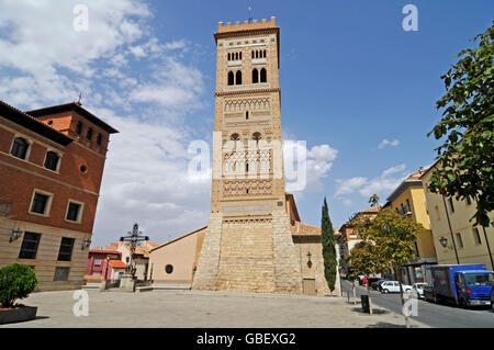 Torre de San Martin, Mudejar style, architecture, Teruel, Aragon, Spain - Stock Photo