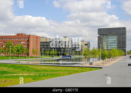 essen germany thyssenkrupp headquarters stock photo. Black Bedroom Furniture Sets. Home Design Ideas