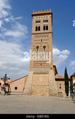 Torre de San Martin, Mudejar style, Teruel, Aragon, Spain - Stock Photo