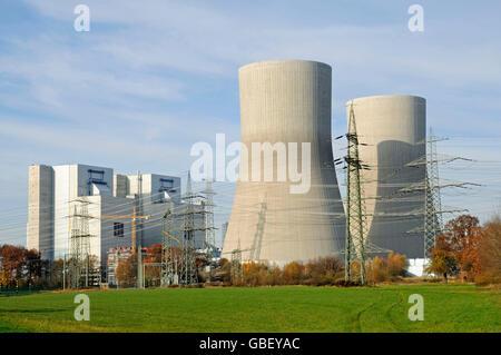 RWE hard coal-fired power station, Hamm-Uentrop, North Rhine-Westphalia, Germany - Stock Photo