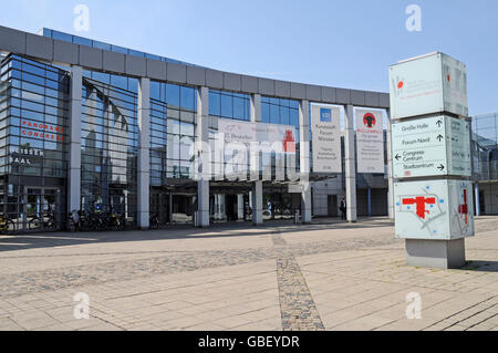 Muensterland Hall, congress centre, exhibition centre, fair, Muenster, Muensterland, North Rhine-Westphalia, Germany - Stock Photo