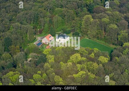 Forsthaus Herrenholz, Oldenburger Muensterland, Landkreis Vechta, Niedersachsen, Deutschland - Stock Photo