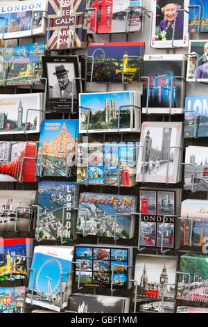 Postcards London souvenirs for sale in London - Stock Photo