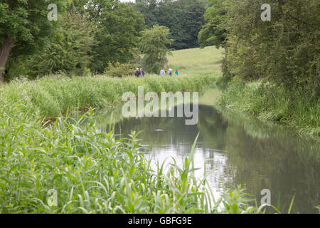 Cromford Canal; Derbyshire, Peak District; England, UK - Stock Photo